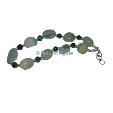 Assorted Tumbled Stones Anklet