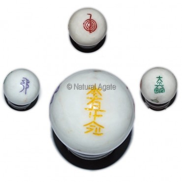 White Quartz Usui Reiki Color Symbol Ball
