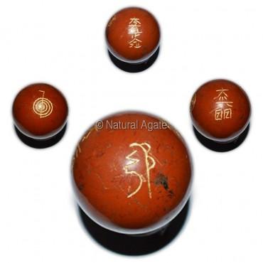 Red Jasper Usui Reiki Symbol Ball