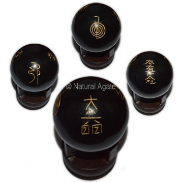Black Tourmalin Usui Reiki Symbol Ball