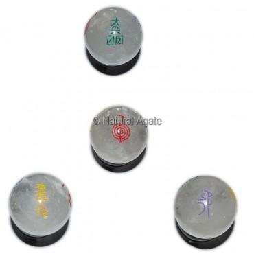 Crystal Quartz Color Reiki Symbol Ball