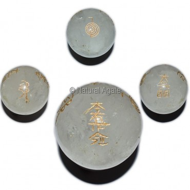 Crystal Quartz Reiki Symbol Ball