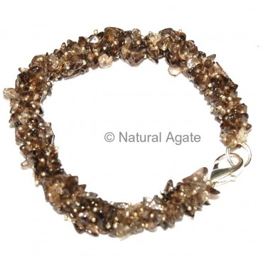Smoky Quartz chips Hand Made Bracelets