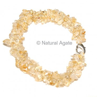 Citrine Hand Made Chips Bracelets