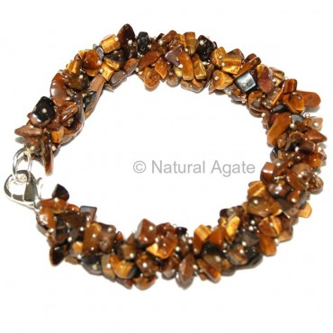 Tiger Eye Hand Made Chisp Bracelets
