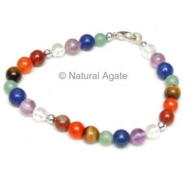 High Quality Round Beads Chakra Bracelets