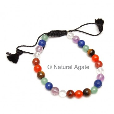Chakra Bracelets With Drawstring