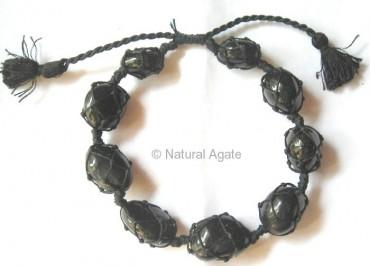 Black Onyx Tumbled Bracelet
