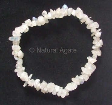 White Moonstone Chips Bracelet