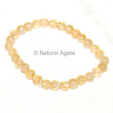 Citrine Beads Bracelet
