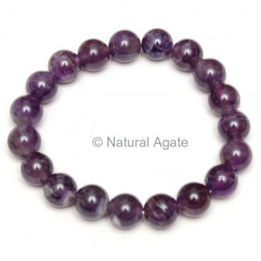 High Grade Amethyst Beads Bracelet