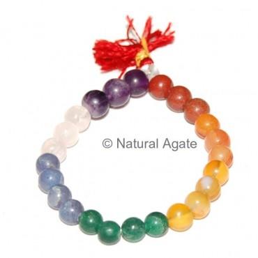 Chakra Round Beads Bracelets