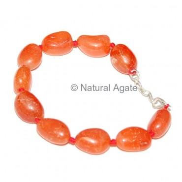 Red Carnelian Tumbled Bracelet
