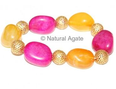 Dyed Stone Bracelet