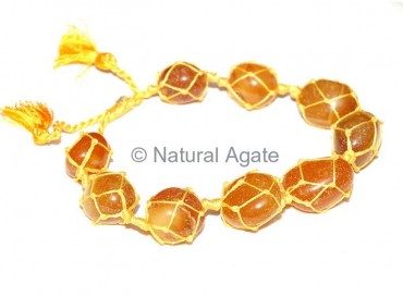 Yellow Onyx Tumbled Bracelet