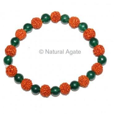 Green Jade Rudraksha Bracelet