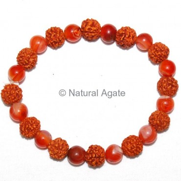 Red Carnelian Rudraksha Bracelet