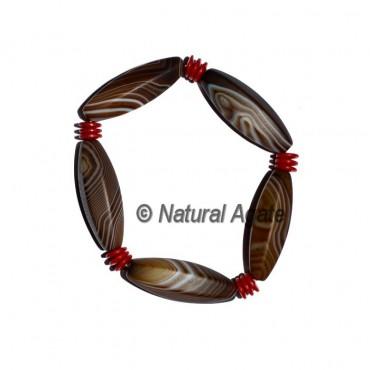 Banded Agate Taper Pipe Bracelets