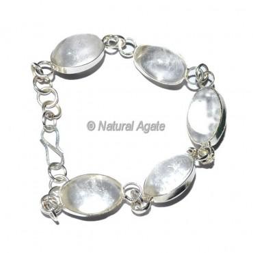 Crystal Quartz Shiva lingam Bracelets
