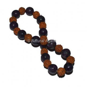 Lepidolite with Rudraksha Bracelets