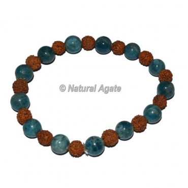 Kyanite with Rudraksha bracelets