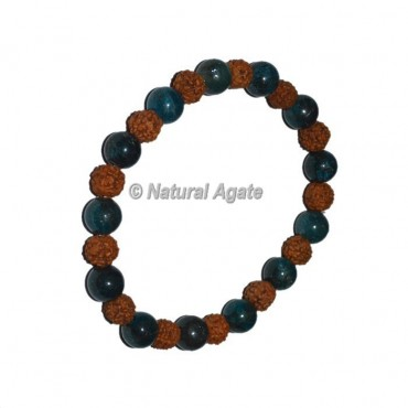 Blue Apatite With Rudraksha Bracelets