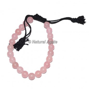 Rose Quartz Draw Crystal Bracelets