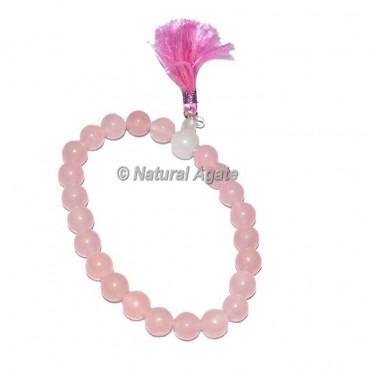 Power Rose Quartz Bracelets with Crystal
