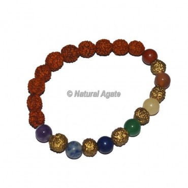 Rudraksha With Seven Chakra Bracelets