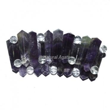 Amethyst Pencil Bracelets