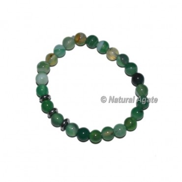 Agate Green Banded Onyx  Bracelets