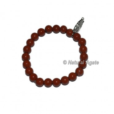 Red Jasper Gemstone Bracelets with Owl