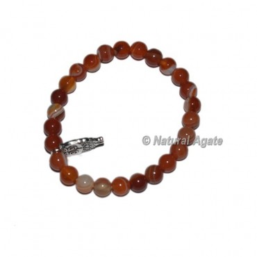 Red Carnelian Gemstone Bracelets with Owl
