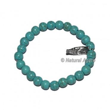 Turquoise Gemstone Bracelets with Owl