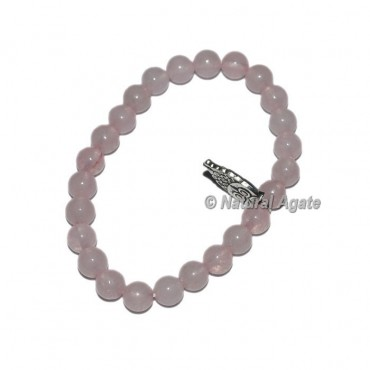 Rose Quartz Gemstone Bracelets with Owl