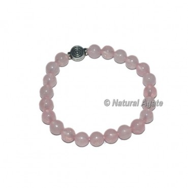 Rose Quartz Gemstone Bracelets with Choko Reiki
