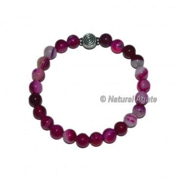 Pink Onyx Gemstone Bracelets with Choko Reiki