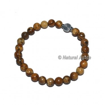 Picture Jasper Gemstone Bracelets with Choko Reiki
