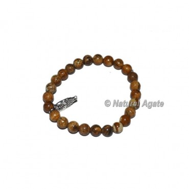 Picture Jasper Gemstone Bracelets with Owl
