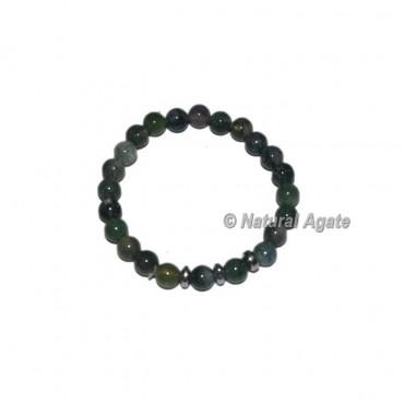 Moss Agate Gemstone Bracelets