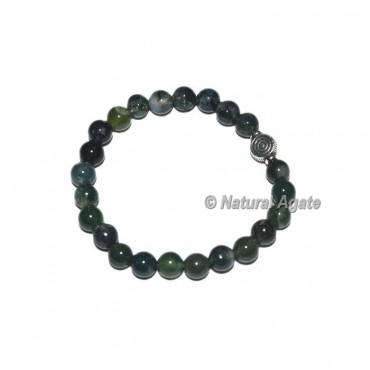 Moss Agate Gemstone Bracelets with Choko Reiki