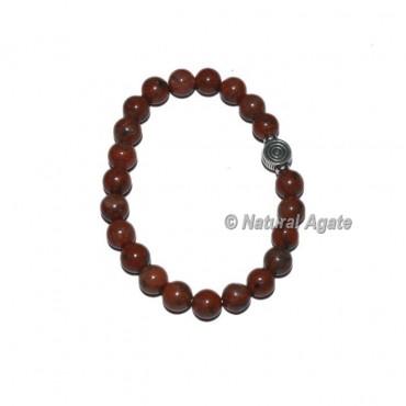 Indian Jasper Gemstone Bracelets with Chokoreiki