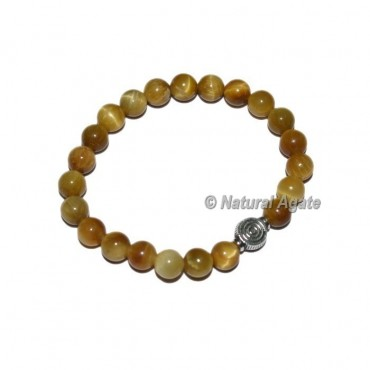 Lemon Tiger Gemstone Bracelets with Chokoreiki
