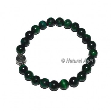 Green Tiger Gemstone Bracelets with Choko Reiki