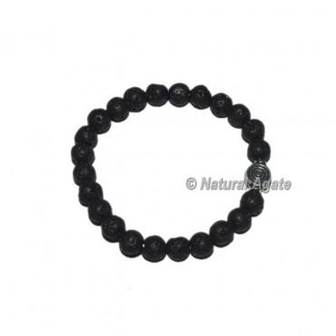 Lava Stone Gemstone Bracelets with Chokoreiki