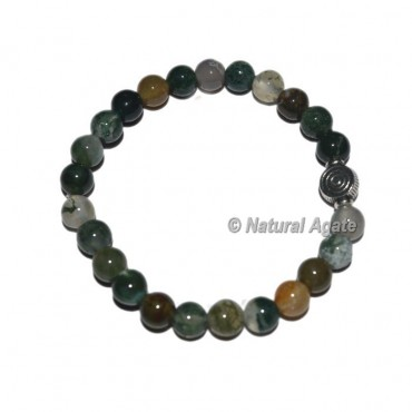 Fancy Agate Gemstone Bracelets with Chokoreiki
