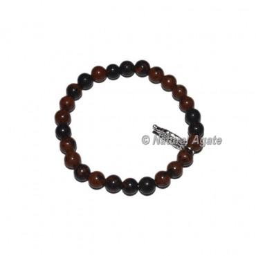 Mahagoni Obsidian Gemstone Bracelets with Owl