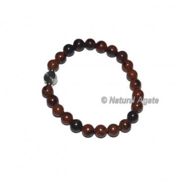 Mahagoni Obsidian Gemstone Bracelets with Chokoreiki