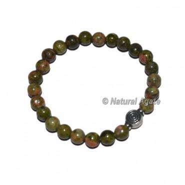 Unakite Gemstone Bracelets with Choko Reiki