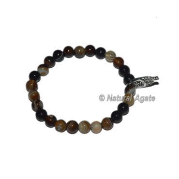 Black Onyx Gemstone Bracelets with Owl